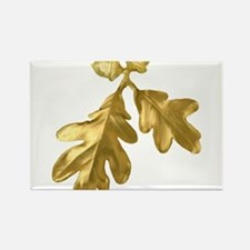 Golden Oak (leaves & acorns) Rectangle Magnet