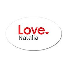 Love Natalia Wall Decal
