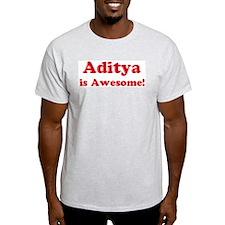 Aditya is Awesome Ash Grey T-Shirt