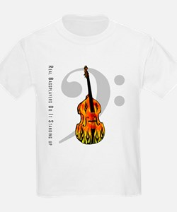 Real Bass Players Do It Stand Kids T-Shirt
