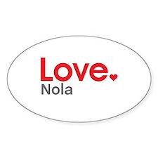 Love Nola Decal