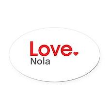 Love Nola Oval Car Magnet
