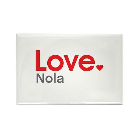 Love Nola Rectangle Magnet