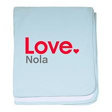 Love Nola baby blanket