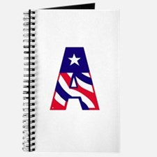 Patriotic Monogram A Journal