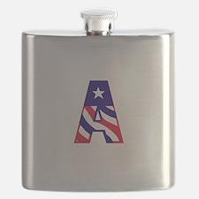 Patriotic Monogram A Flask