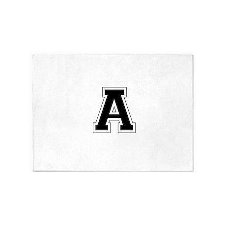 Collegiate Monogram A 5'x7'Area Rug