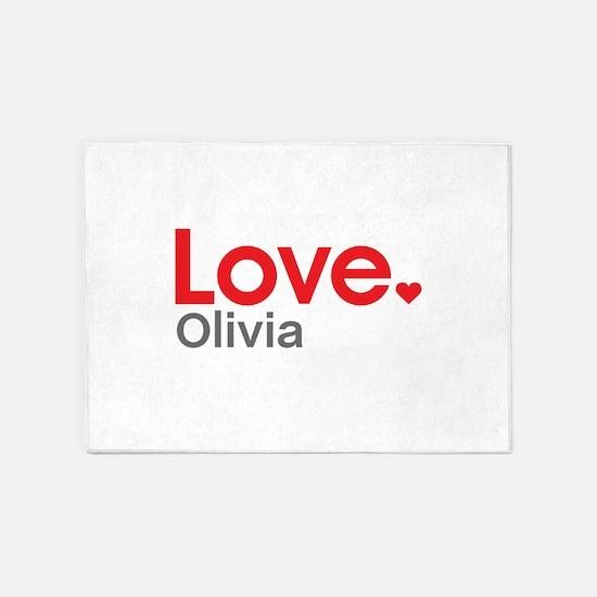 Love Olivia 5'x7'Area Rug
