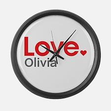 Love Olivia Large Wall Clock