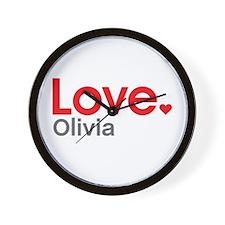 Love Olivia Wall Clock