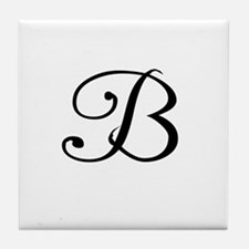 A Yummy Apology Monogram B Tile Coaster