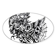 Quad Blazed Wickedness Bumper Stickers