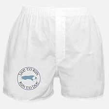 Blue BC Run To Live Logo Boxer Shorts