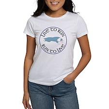 Blue BC Run To Live Logo Tee