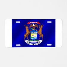 Michigan State Flag Aluminum License Plate