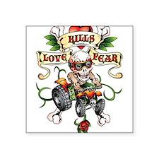 Love Kills Fear Skully Quad Sticker