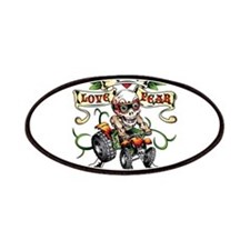 Love Kills Fear Skully Quad Patches