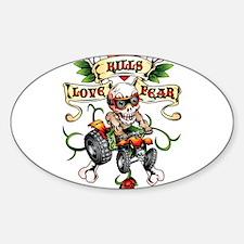 Love Kills Fear Skully Quad Decal