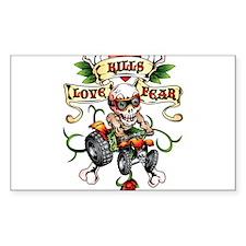 Love Kills Fear Skully Quad Bumper Stickers