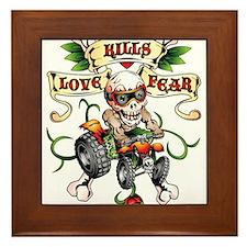 Love Kills Fear Skully Quad Framed Tile
