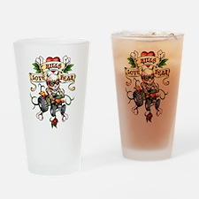 Love Kills Fear Skully Quad Drinking Glass