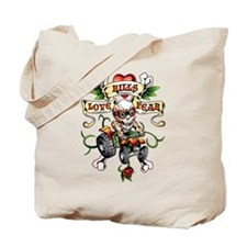 Love Kills Fear Skully Quad Tote Bag