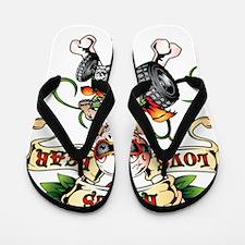 Love Kills Fear Skully Quad Flip Flops