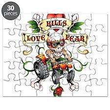 Love Kills Fear Skully Quad Puzzle