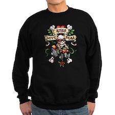 Love Kills Fear Skully Quad Sweatshirt