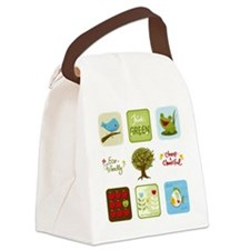 Cute Grocery Canvas Lunch Bag