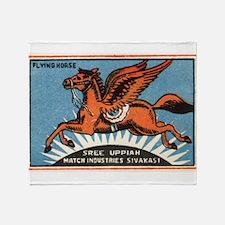 Antique India Flying Horse Matchbox Label Stadium