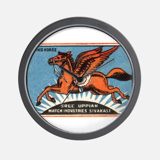 Antique India Flying Horse Matchbox Label Wall Clo