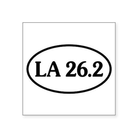 Los Angeles Marathon 26.2 Oval Sticker