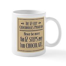 12 Steps Away from Chocolate Mug (white)