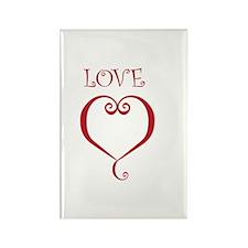 LOVE Rectangle Magnet (10 pack)