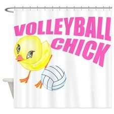 Volleyball Chick Shower Curtain