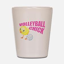 Volleyball Chick Shot Glass