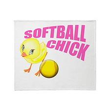 SoftballChick copy Throw Blanket