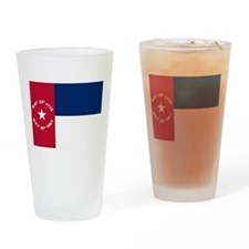 NC 1861 Flag Drinking Glass