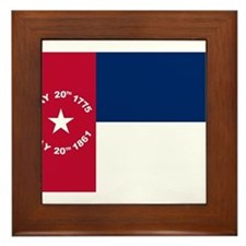 NC 1861 Flag Framed Tile