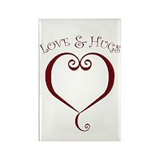 Love&Hugs Rectangle Magnet (10 pack)