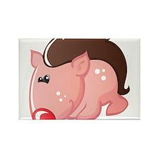 Wild Pig Rectangle Magnet