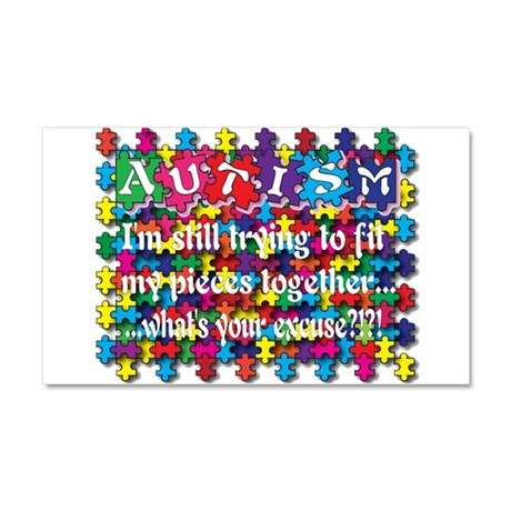 Fitting My Puzzle Pieces Together Car Magnet 20 x
