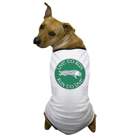 Blue Merle BC Live To Run Logo Dog T-Shirt
