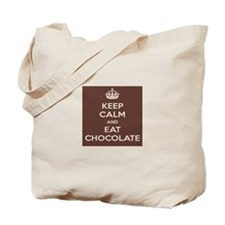 Keep Calm and Eat ChocolateTote Bag