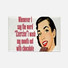 Chocolate Instead of Exercise Rectangle Magnet