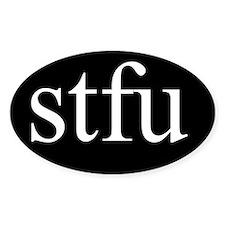 stfu oval sticker