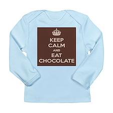 Eat Chocolate L/S Infant T-Shirt (pick color)