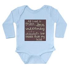 Peace L/S Infant Bodysuit (pick color)
