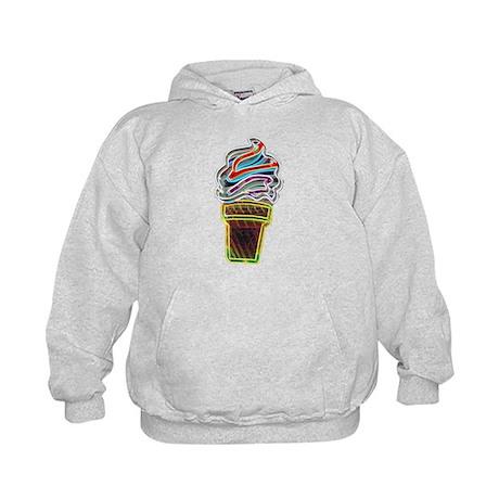Neon Ice Cream Cone Hoodie